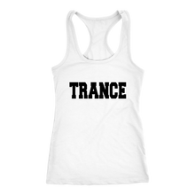 Load image into Gallery viewer, women's white trance edm tank top t-shirt