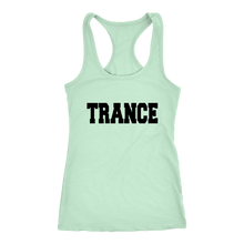 Load image into Gallery viewer, women's lime green trance EDM tank top t-shirt