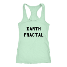 Load image into Gallery viewer, Women's Earth Fractal T Shirt - Black Text