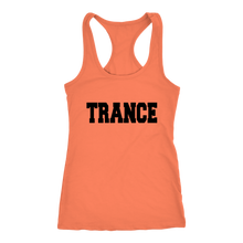 Load image into Gallery viewer, women's orange trance EDM tank top t-shirt