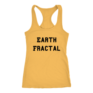 Women's Earth Fractal T Shirt - Black Text