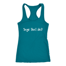 Load image into Gallery viewer, Women's Sage T Shirt - White Text