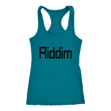 Load image into Gallery viewer, Women's  Riddim T-Shirt Black Text