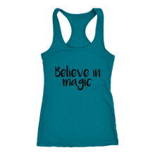 Load image into Gallery viewer, Women's Believe in Magic T-Shirt Black Text