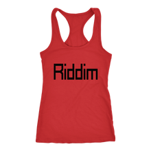 Load image into Gallery viewer, women's red Riddim EDM tank top t-shirt