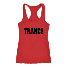 Load image into Gallery viewer, women's red trance EDM tank top t-shirt