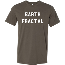 Load image into Gallery viewer, Men's brown white text Earth Fractal T-Shirt