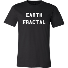 Load image into Gallery viewer, Men's Earth Fractal White Text T-Shirt