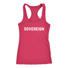 Load image into Gallery viewer, Women's Sovereign T Shirt - White Text