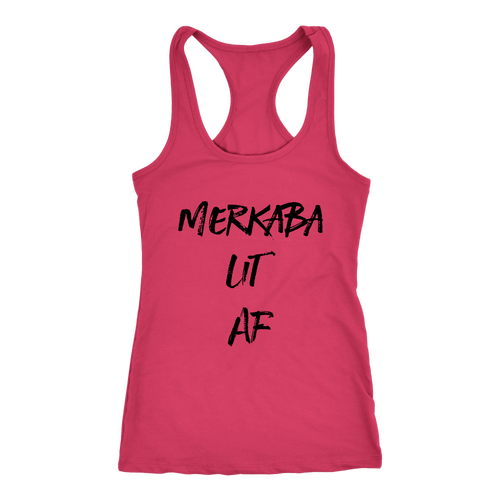 Women's Merkaba Lit AF T Shirt - Black Text
