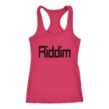 Load image into Gallery viewer, women's hot pink Riddim EDM tank top t-shirt