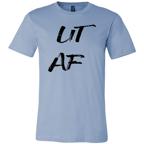 Men's Lit AF T-Shirt  Black Text