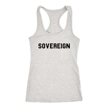 Load image into Gallery viewer, Women's Sovereign T Shirt - Black Text