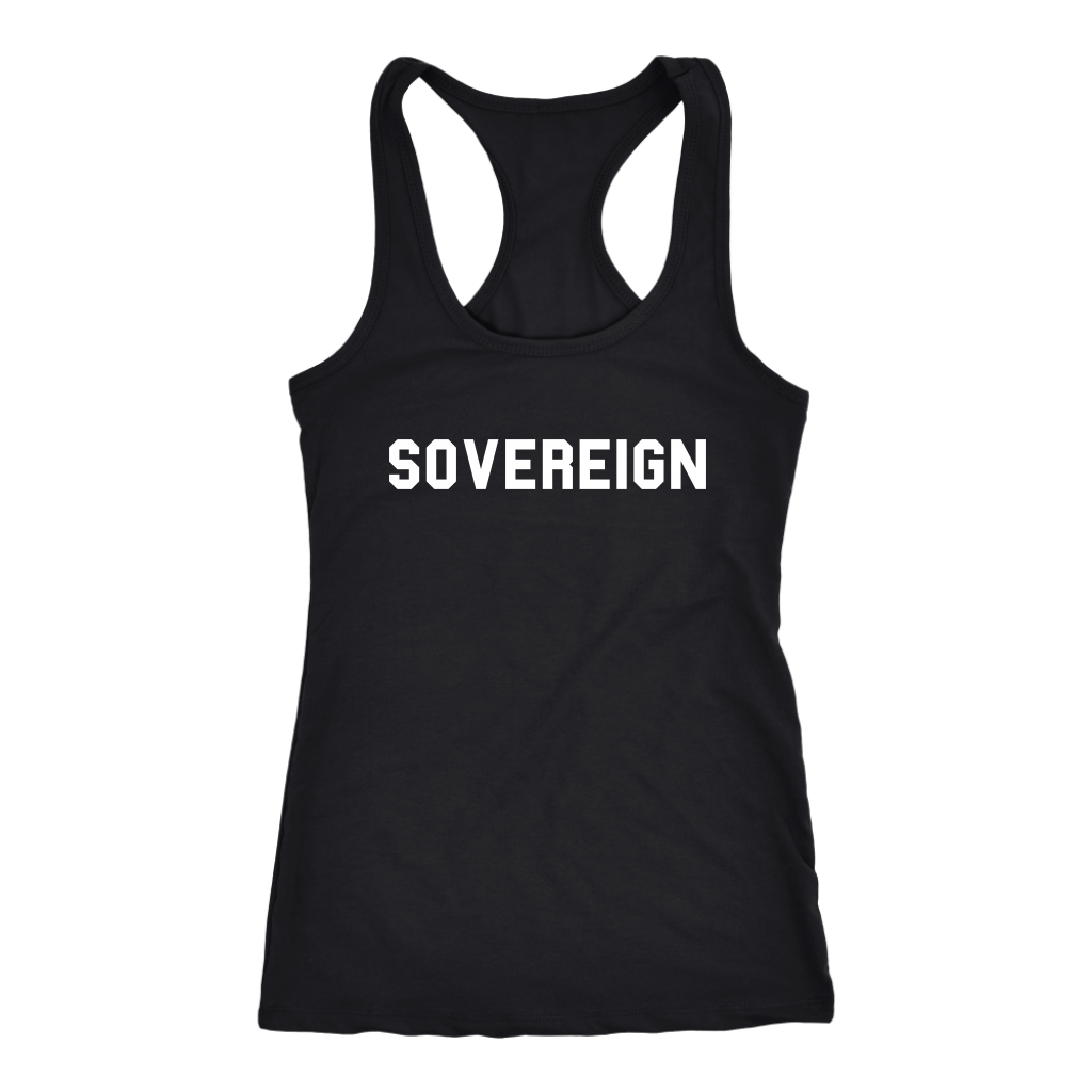 Women's Sovereign T Shirt - White Text