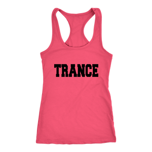 women's coral pink trance EDM tank top t-shirt