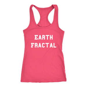 Women's Earth Fractal T Shirt - White Text