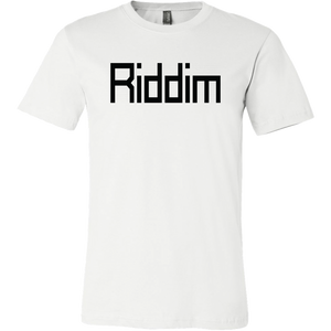 Men's Riddim T-Shirt Black Text