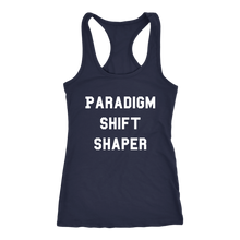 Load image into Gallery viewer, Women's Paradigm Shift Shaper T Shirt  - White Text