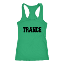 Load image into Gallery viewer, women's green trance EDM tank top t-shirt