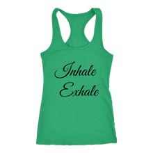Load image into Gallery viewer, Women's Inhale Exhale  T Shirt - Black Text