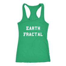 Load image into Gallery viewer, Women's Earth Fractal T Shirt - White Text