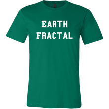 Load image into Gallery viewer, Men's green Earth Fractal White Text T-Shirt