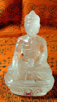 Buddha statue made of Tibetan quartz crystal.