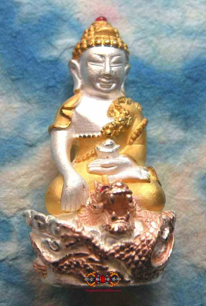 Golden Dragon Phra Kling Amulet - Venerable LP Nen Geow Kampilo.