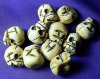 Yak Bone Skull Beads - Tibetan Crafts