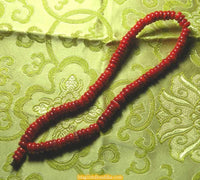 Small Tibetan mala in red coral
