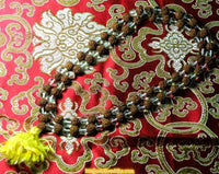 Mala in rudraksha and crystal - Shiva and Shakti.