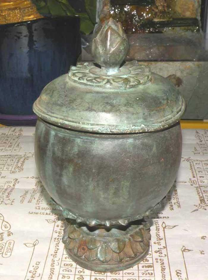 Bronze bowl for consecration blessed water Nam Mön