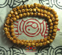Tibetan mala made of yak bone - skull beads