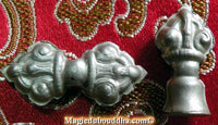 Beads of mala counters: Bell and dorje