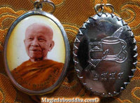 Thai medal portrait Roop Lor of the Very Venerable Luangta Mahabua.