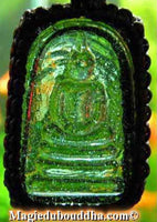 Amulet Phra Somdej in alchemical glass.