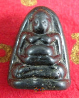 Phra Sanghajai Fortune Buddha in Lair Black Alchemical Glass