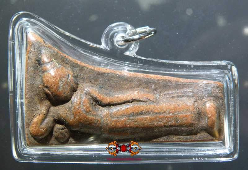 Ancient Amulet of Reclining Buddha Phra Nön.