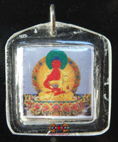 Tibetan Buddha Amulet of Long Life Tsépamé - Venerable Palden Dorje