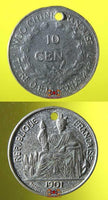 Fortune pendants from Cambodia - Blessed French Indochina Coins.