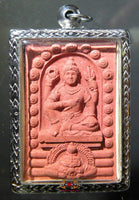 Large red amulet of Vishnu.