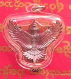 Garuda amulet in alchemical metal - Wat Huae Joraké.