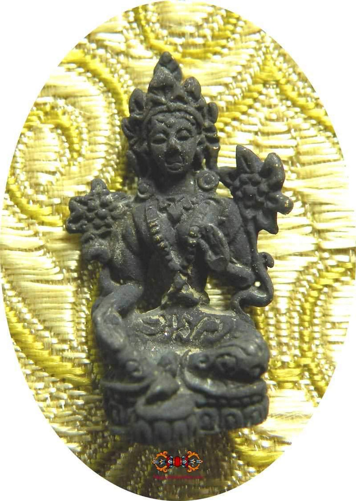 Amulets of Green Tara, Avalokiteshvara and Kshitigarbha - Wat Boman Khunaram.