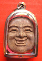 Amulet Face of the Laughing Buddha / Phra Phrom (Brahma) - Wat Chedi Hoi.