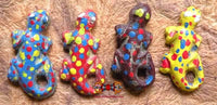 Multicolored Thai Gecko Amulets - Very Venerable LP Lum.