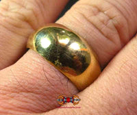Wen Phi Lot of Power og Meditation Ring of the Very Venerable LP Dooh (gylden version).