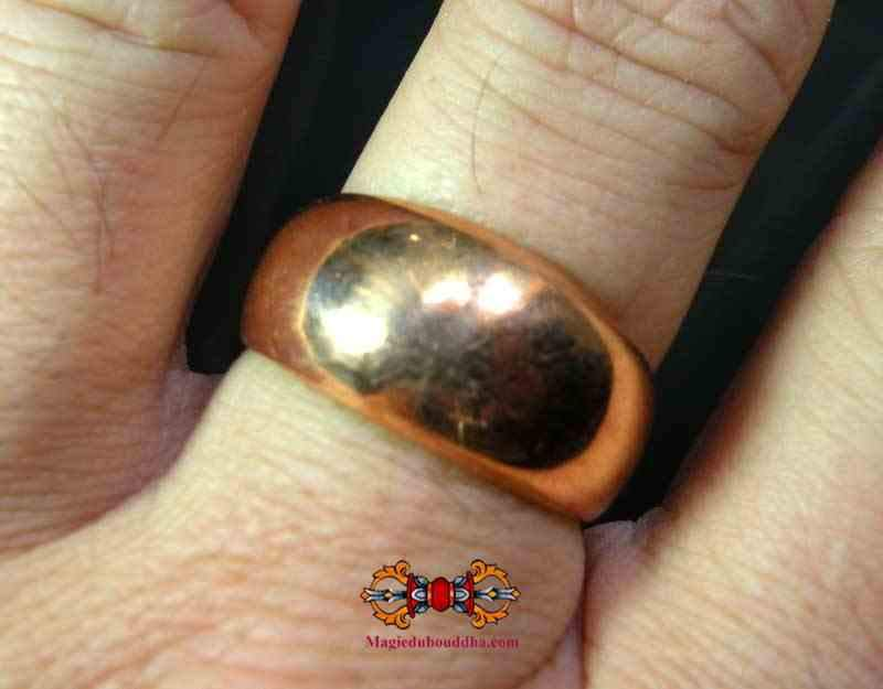 Wen Phi Lot of Power og Meditation Ring of the Very Venerable LP Dooh (kobber alkemisk version).