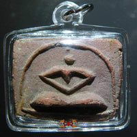 Ancient Thai Amulet stiliserte Buddha.