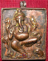 Nepalese Old Copper Reliquary - Ganesh