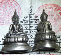 Statuette of the silver Buddha - Most Venerable Ajarn Sané.